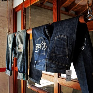 Denim branding at our New York, Los Angeles and Shanghai design and innovation centers